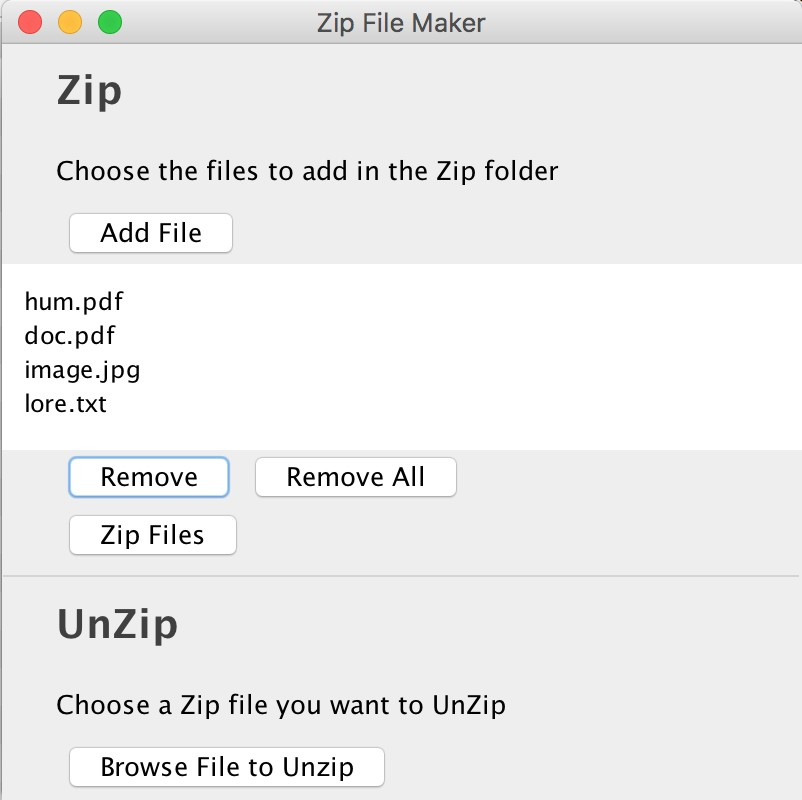 Zip File Maker