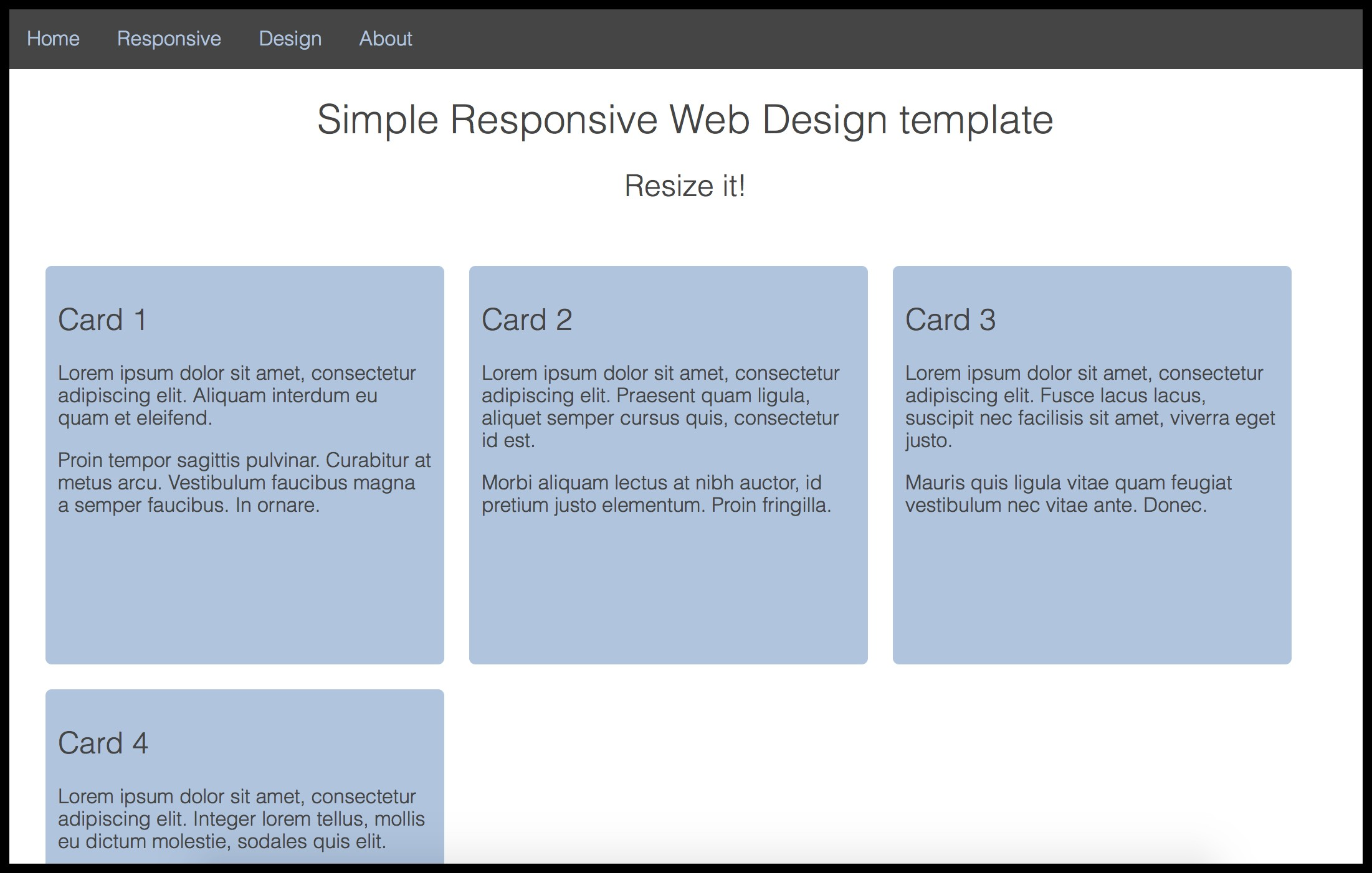 HTML Responsive Page