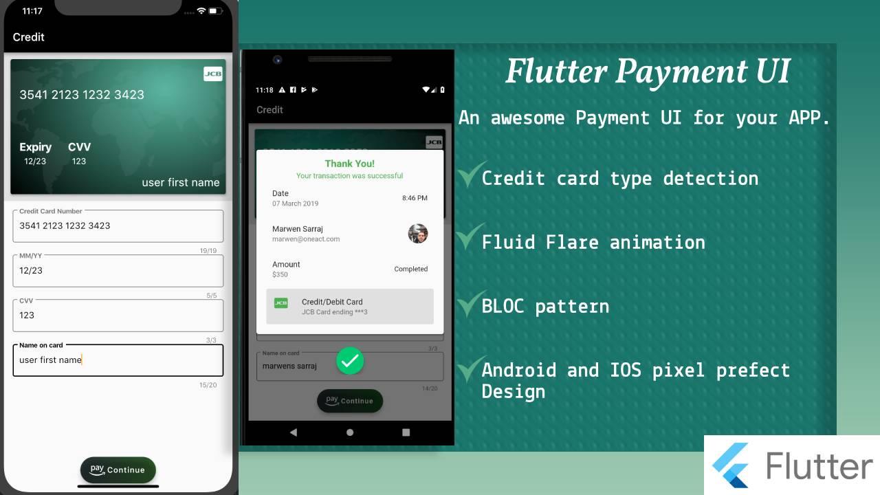 Flutter payment UI
