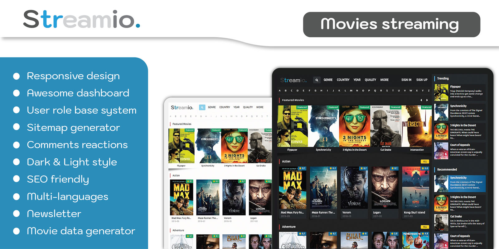 Streamio - Movies streaming PHP script