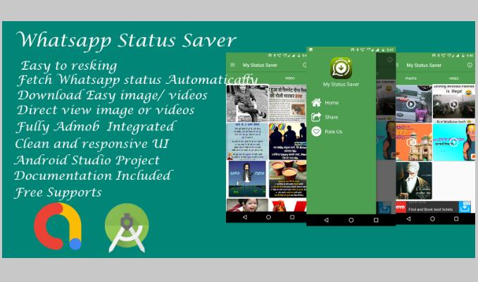 Whatsapp Status saver - Android Studio Code