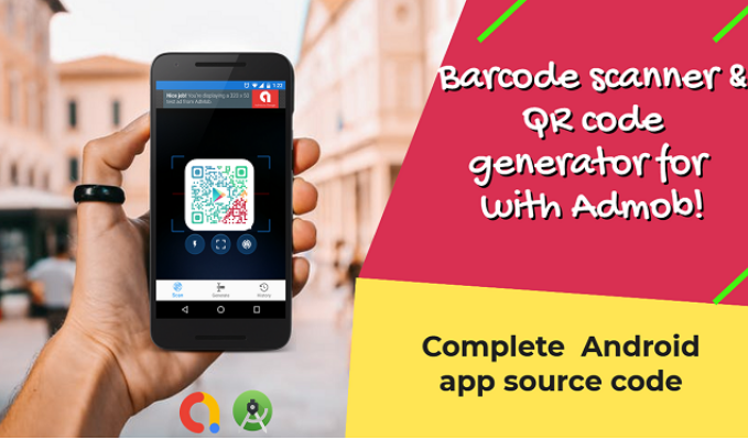Barcode scanner and QR code generator for Android with Admob