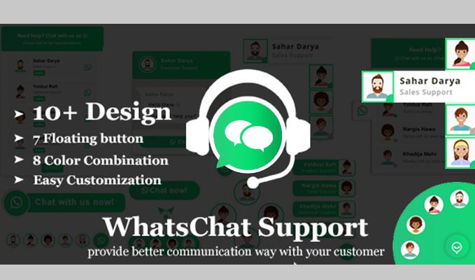 WhatsChat WhatsApp Chat Widget PHP Plugin