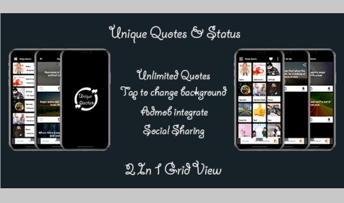 Unique Quotes Status iOS App with Admin Panel