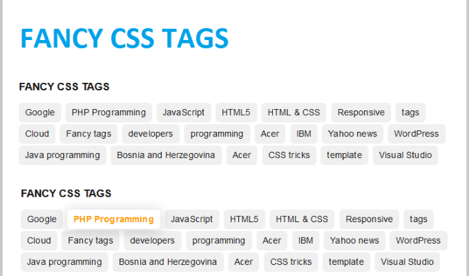 Fancy CSS tags