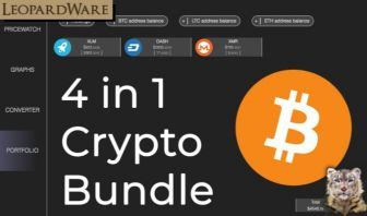 Cryptocurrency Dashboard Bundle 4 in 1
