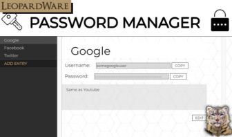 Password Manager  - Application Template