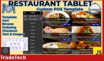 Restaurant Ordering Tablet