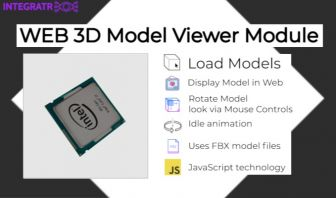 Web 3D Model Viewer Module - via FBX and JavaScript