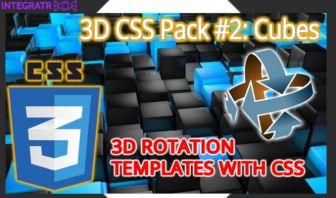 3D CSS Pack #2: Cubes