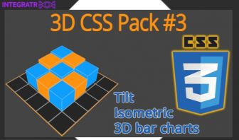 3D CSS Pack #3: Isometric, 3D Charts, Tilting
