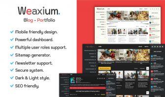 Weaxium Responsive Portfolio Blog PHP script