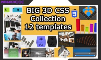 Big 3D CSS collection - All packs - 12 Templates