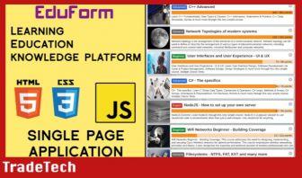 EduForm - Learning Platform Template - JavaScript Single Page