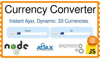 Currency Converter Website with NodeJS & Express JS