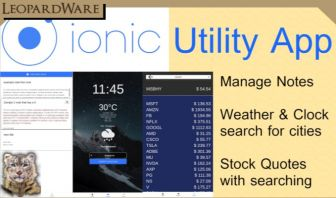 Ionic Utility App - Notes, Weather & Clock, Stocks