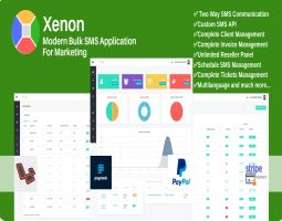 Xenon Modern Bulk SMS Application For Marketing