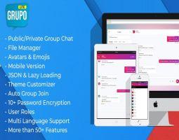 Grupo JSON Based AJAX PHP Chatroom Script
