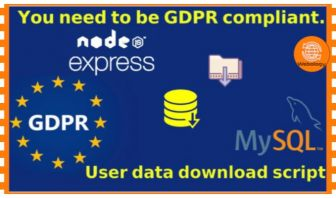 Node Express TypeScript Database downloader for GDPR