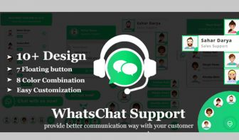 WhatsChat WhatsApp Chat Widget PHP Plugin