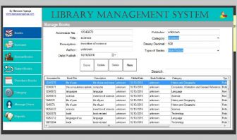 Graphical Library Management System