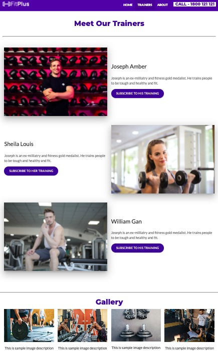 Fitness HTML Landing Page Website Template - Source code